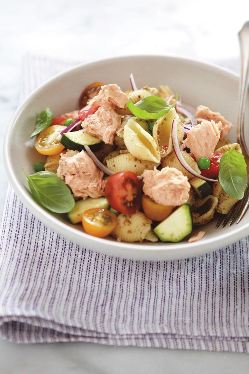 Dairy Free Pasta Salad  Salmon Pesto Pasta Salad Recipe Dairy Free Gluten Free