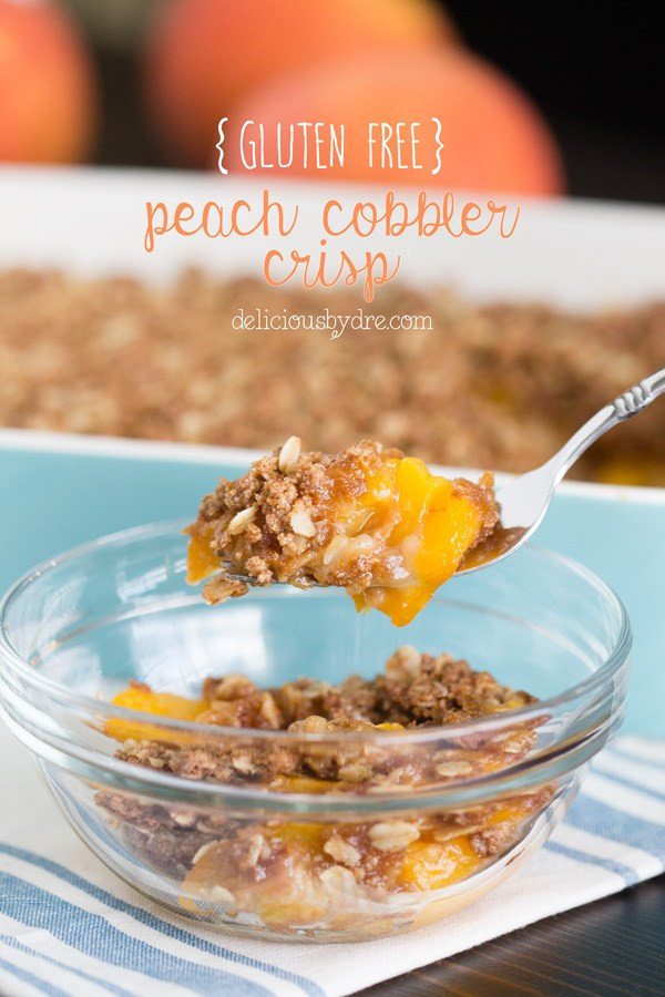 Dairy Free Peach Cobbler  week 13 gluten free peach cobbler crisp