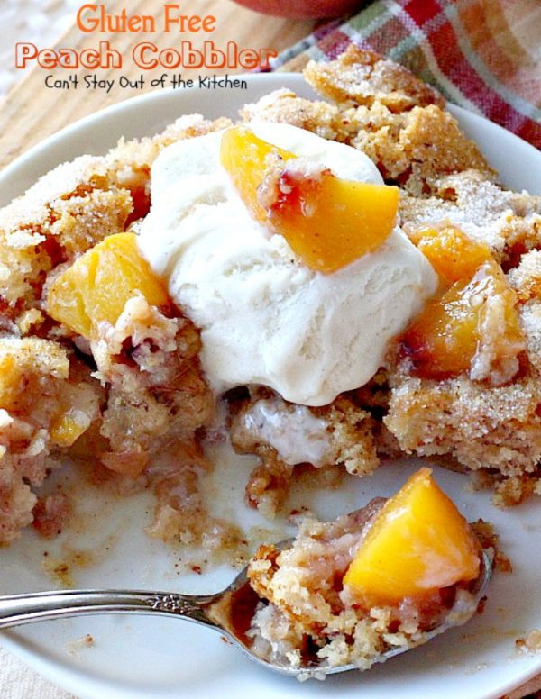 Dairy Free Peach Cobbler  Gluten Free Peach Cobbler Can t Stay Out of the Kitchen