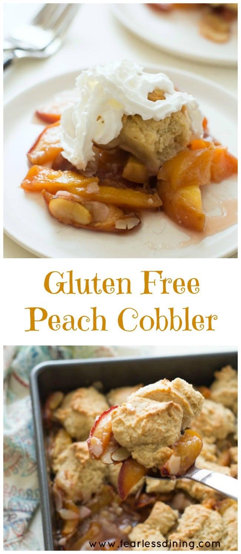 Dairy Free Peach Cobbler  Gluten Free Peach Cobbler Recipe — Dishmaps