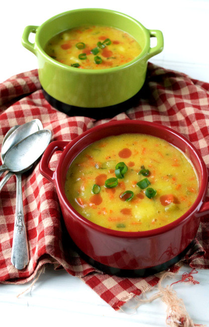 Dairy Free Potato Soup Recipe  Dairy free Cheesy Potato Soup