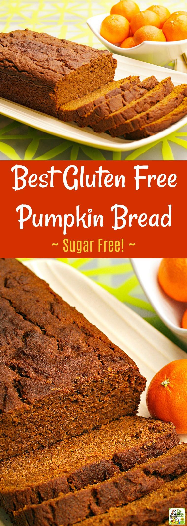Dairy Free Pumpkin Bread  This Best Gluten Free Pumpkin Bread recipe is sugar free