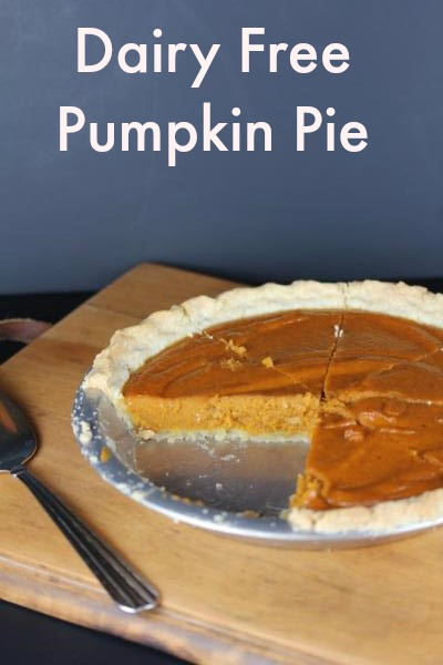 Dairy Free Pumpkin Pie Recipe  Dairy Free Pumpkin Pie Recipe