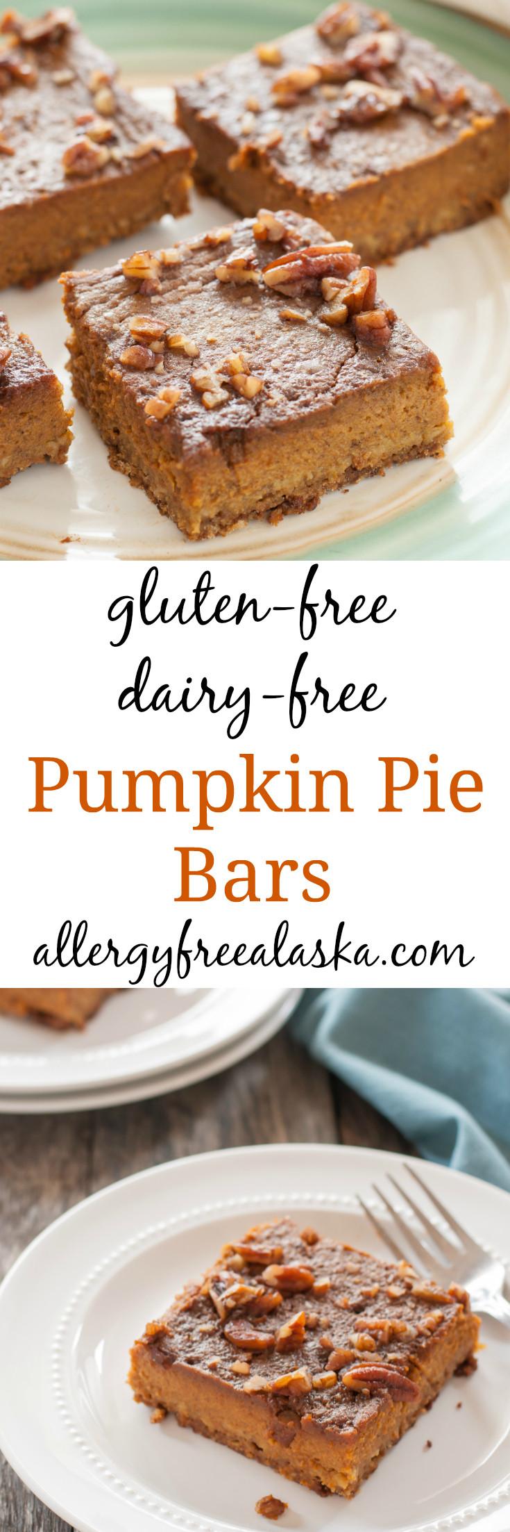 Dairy Free Pumpkin Pie Recipe  gluten free dairy free pumpkin pie bar recipe from allergy