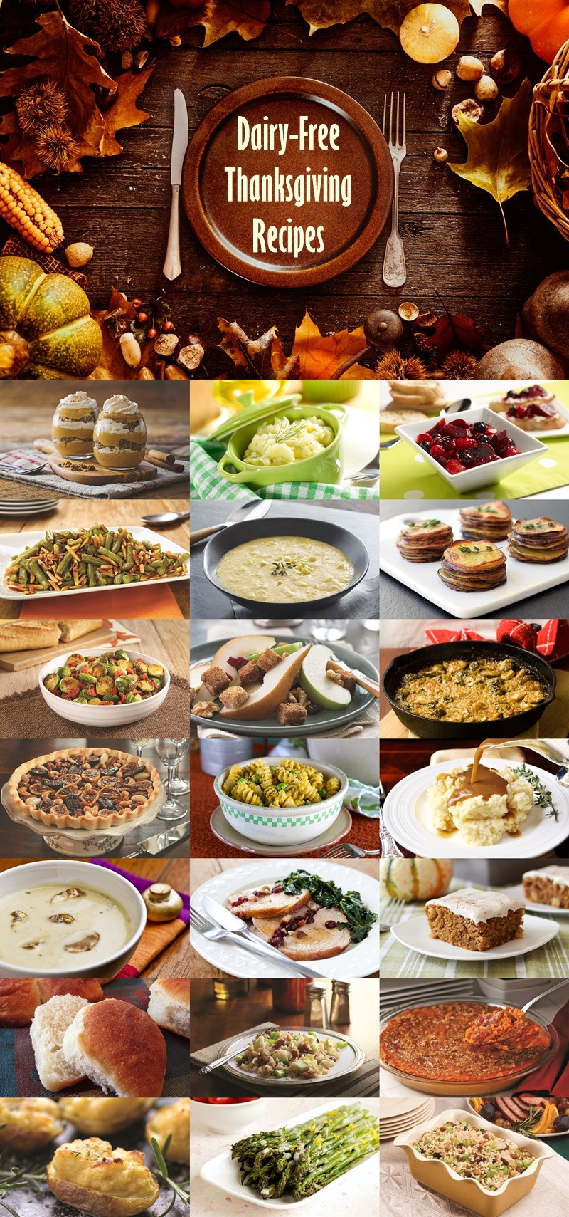 Dairy Free Recipes  The Biggest Gathering of Dairy Free Thanksgiving Recipes