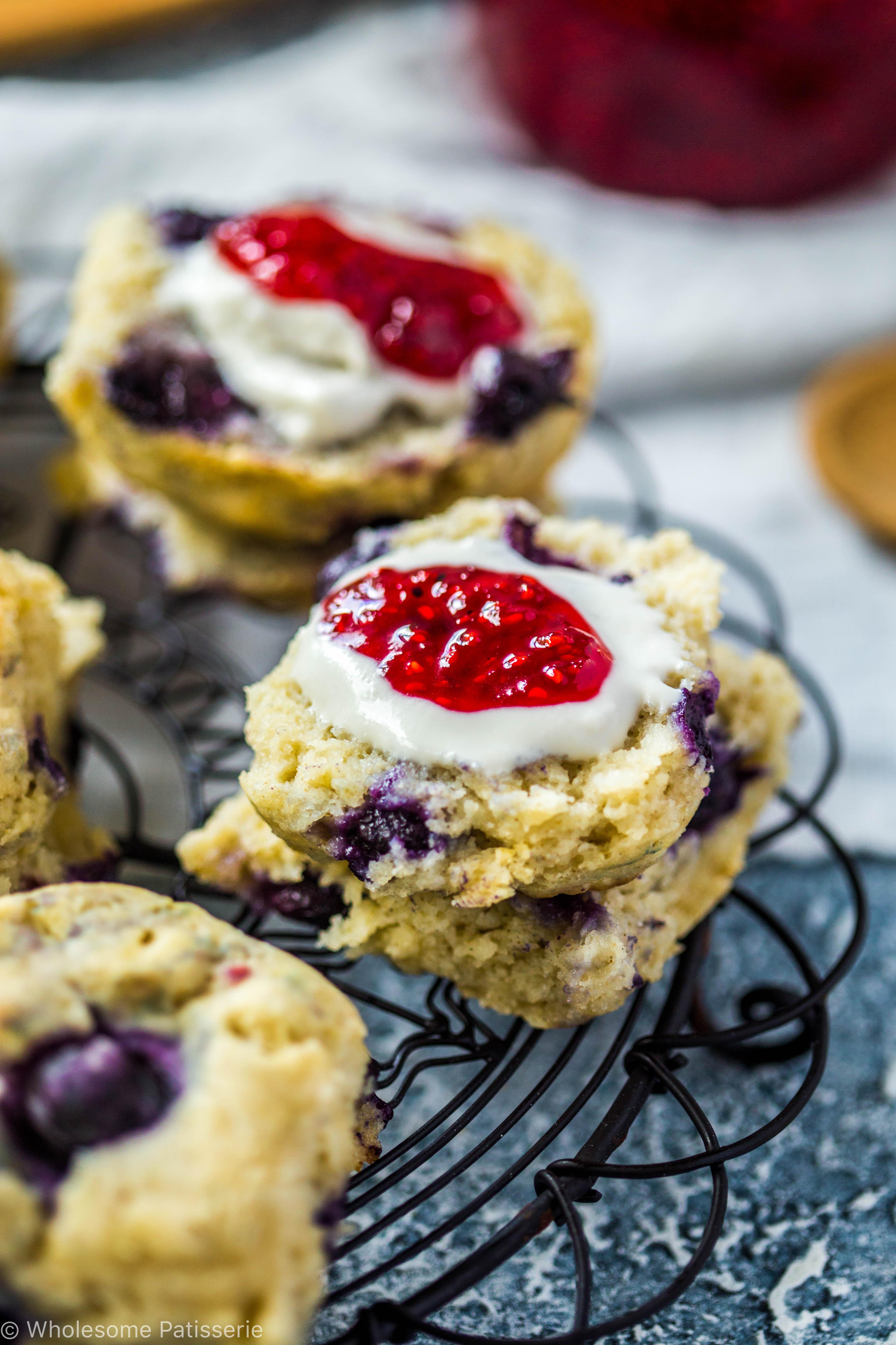 Dairy Free Soy Free Desserts  Blueberry Scones Vegan Gluten Free Wolesome Patisserie