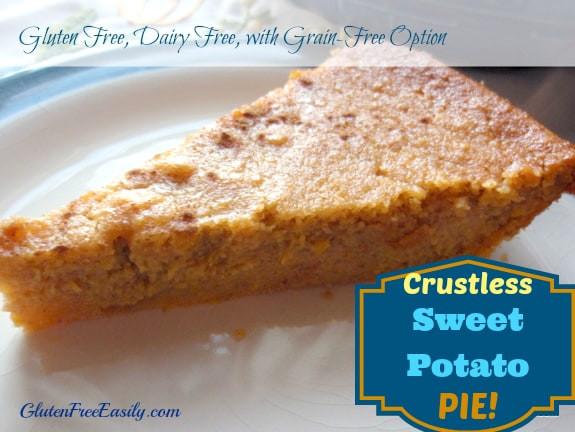 Dairy Free Sweet Potato Pie  Crustless Sweet Potato Pie Recipe Gluten Free with Grain