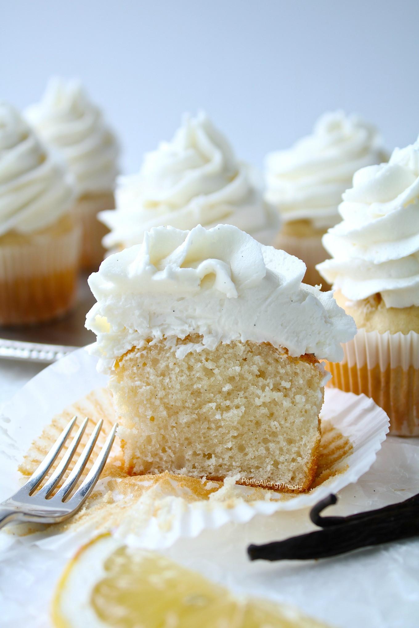 Dairy Free Vanilla Cupcakes  Bakery Style Gluten Free Vanilla Cupcakes & Allergy Amulet