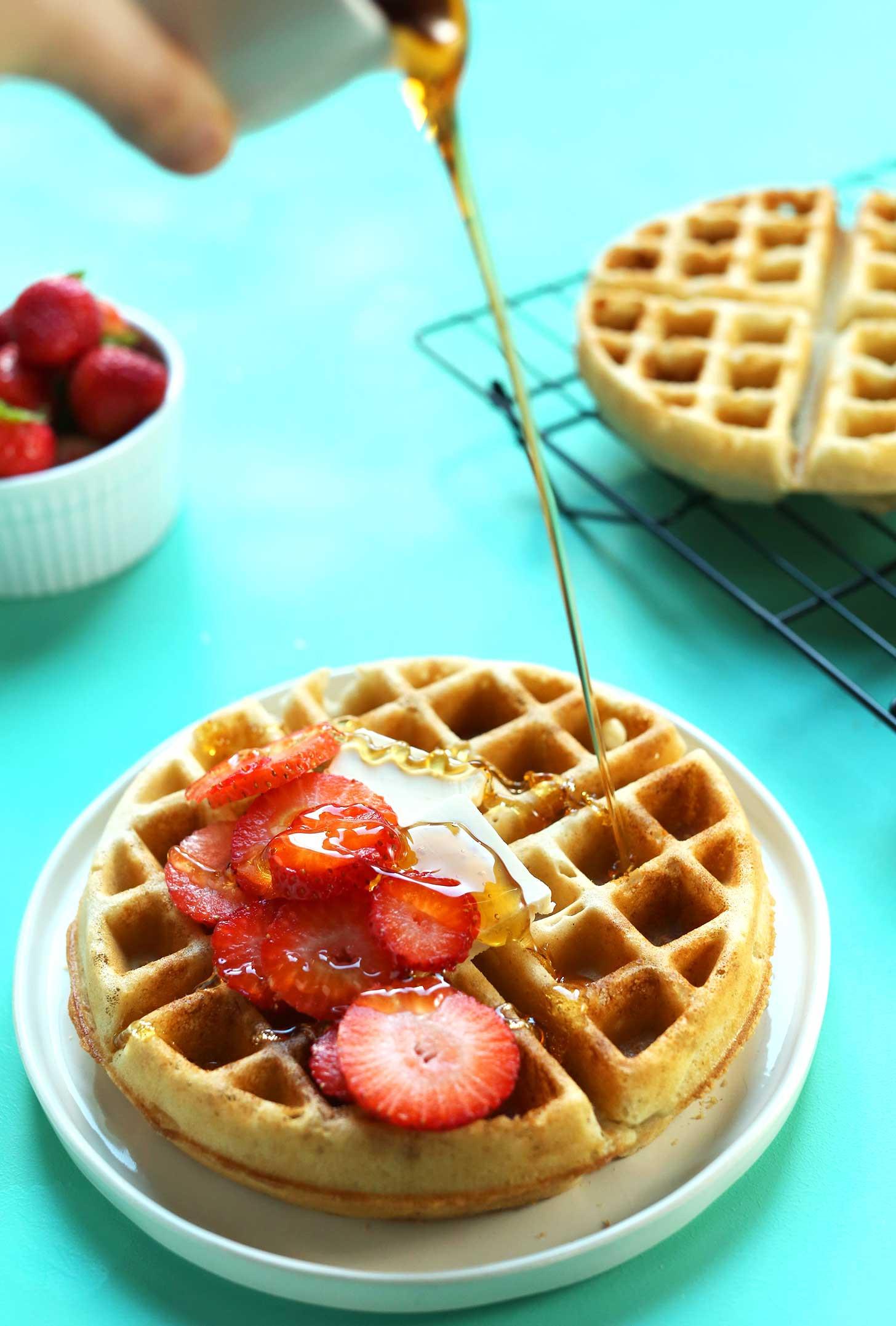Dairy Free Waffles  gluten free vegan waffle recipe