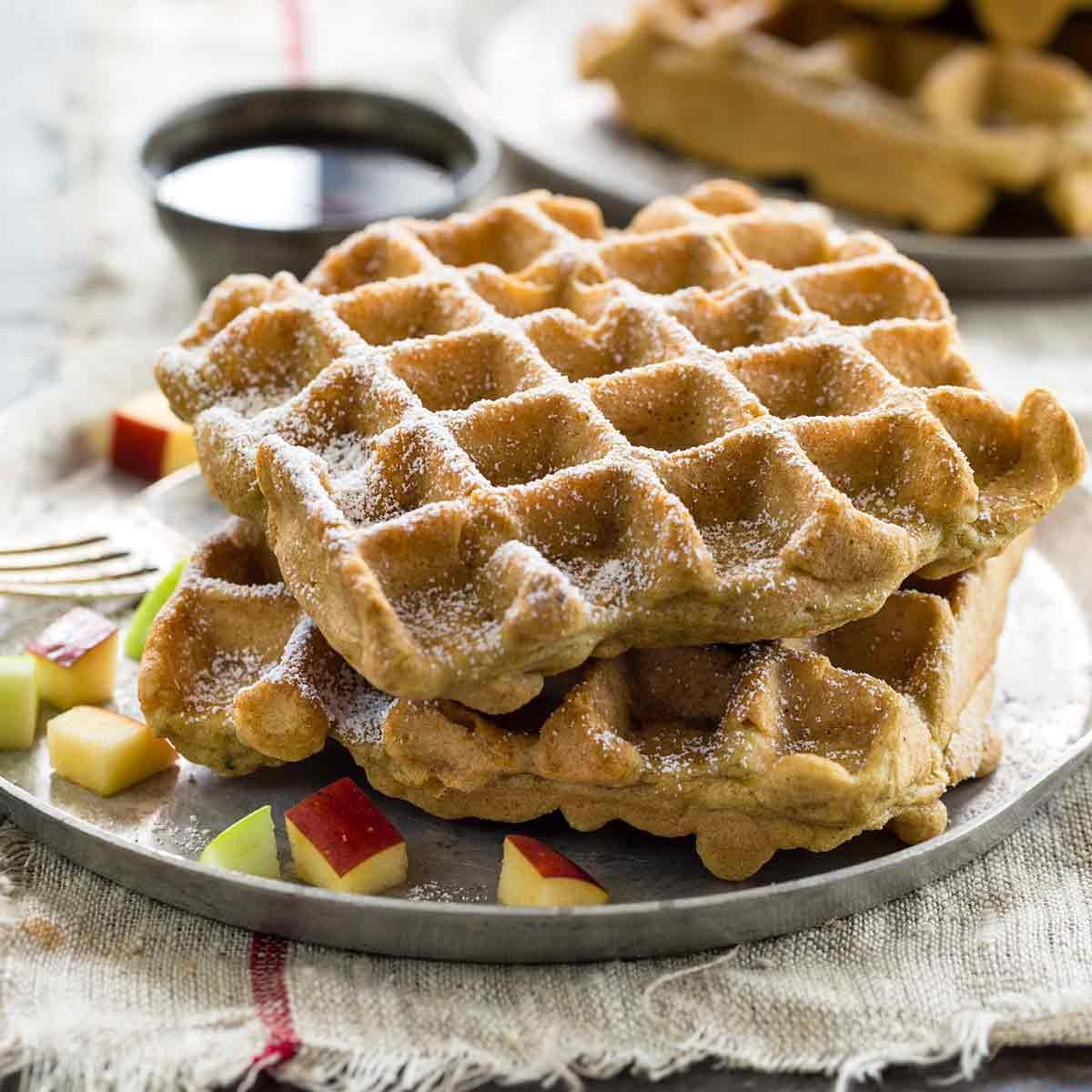 Dairy Free Waffles  Gluten Free Apple Cinnamon Waffles