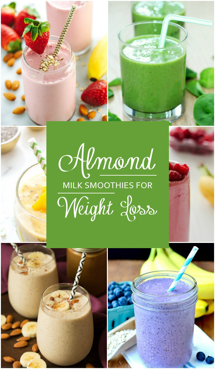 Dairy Free Weight Loss Smoothies  almond milk smoothie weight loss