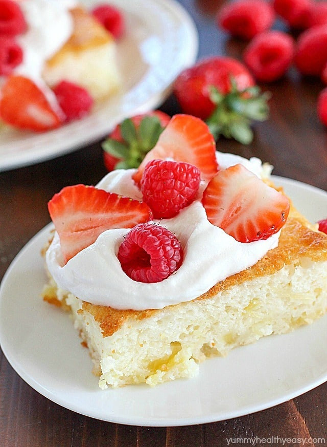 Delicious Low Calorie Desserts  2 Ingre nt Fluff Cake Yummy Healthy Easy