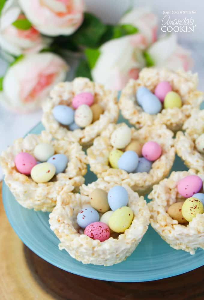 Dessert For Easter  Rice Krispie Nests a quick and easy no bake Easter treat
