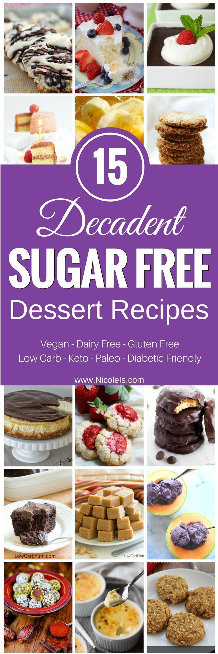 Dessert Recipes For Diabetics Sugar Free  Best 25 Sugar free diabetic recipes ideas on Pinterest