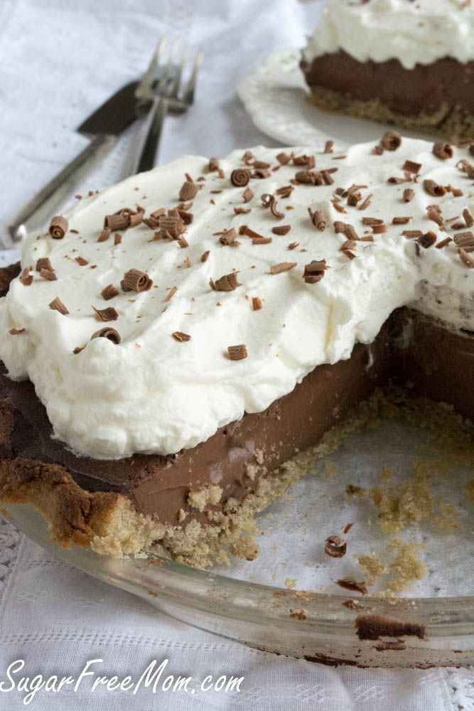 Dessert Recipes For Diabetics Sugar Free  Sugar Free Chocolate Cream Pie