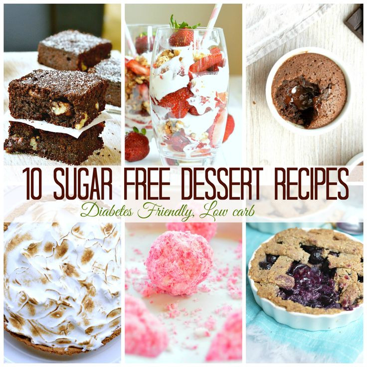Dessert Recipes For Diabetics Sugar Free  1000 images about Hold the Sugar on Pinterest