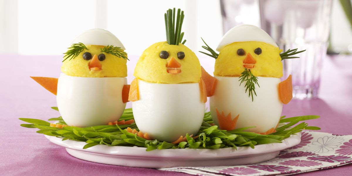 Deviled Eggs Easter Chicks  Deviled Egg Chicks Recipe