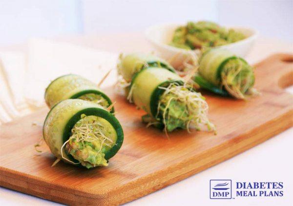 Diabetic Appetizer Recipes  Diabetes Appetizers Cucumber Rolls