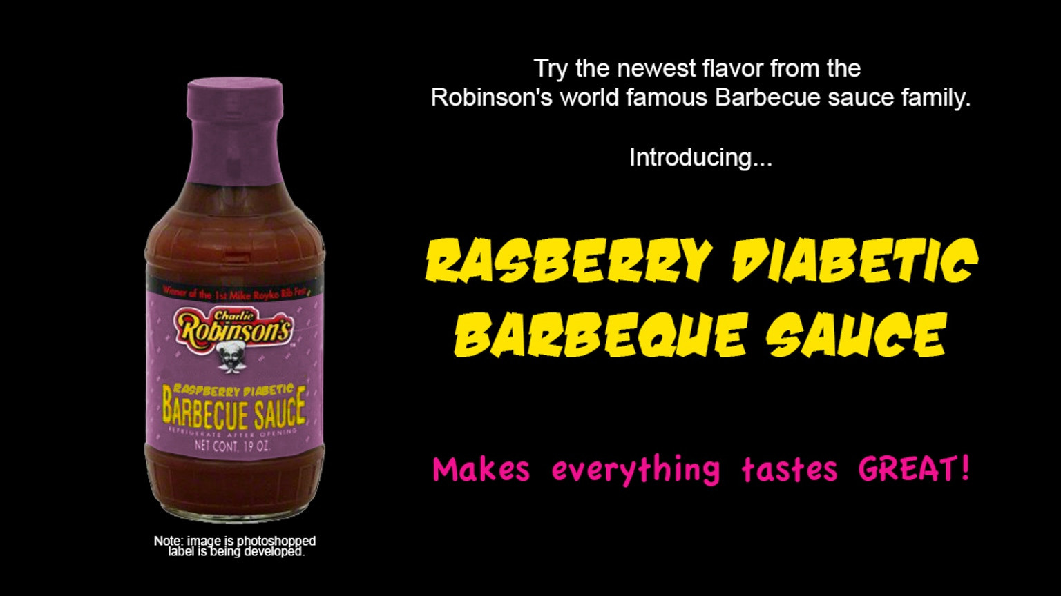 Diabetic Barbecue Sauce Recipes  Rasberry Diabetic Barbecue Sauce by Charlie Robinson