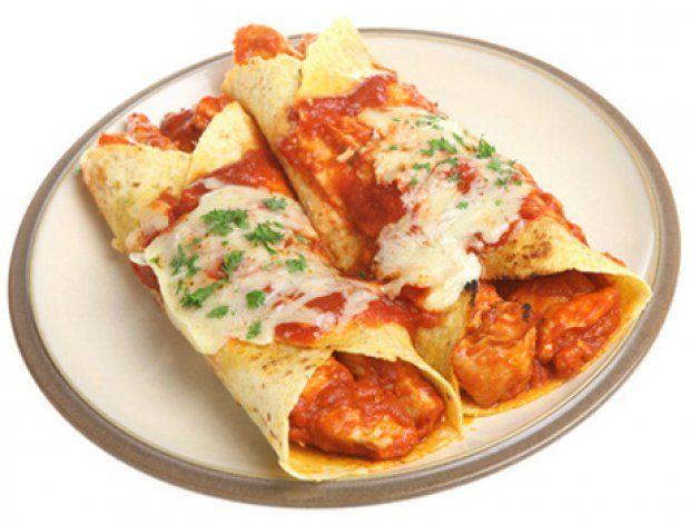 Diabetic Chicken Enchiladas  46 best Kochen Wraps images on Pinterest