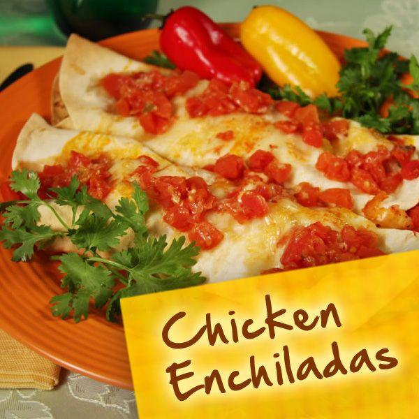 Diabetic Chicken Enchiladas  Hispanic Diabetes Recipes Chicken Enchiladas