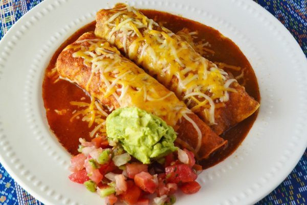 Diabetic Chicken Enchiladas  Chicken Enchiladas with Red and Green Sauce for Diabetic