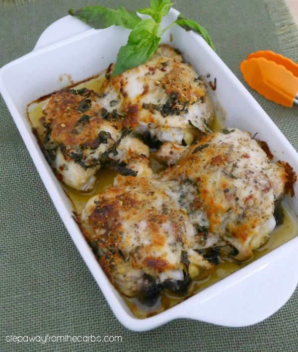 Diabetic Chicken Thigh Recipes  Italian Baked Chicken Thighs a flavorful low carb entree