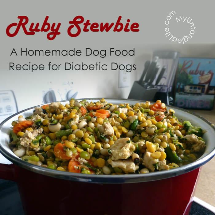Diabetic Dog Food Recipes  Homemade Diabetic Dog Food Recipe Ruby Stewbie