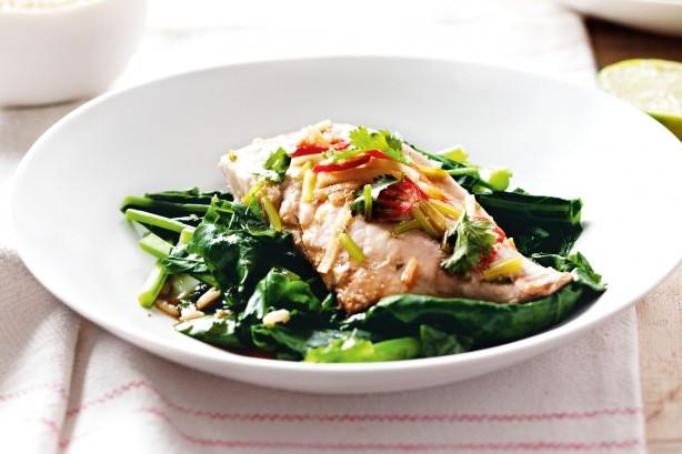 Diabetic Fish Recipes  Diabetes friendly Steamed Ginger Fish With Gai Lan Recipe