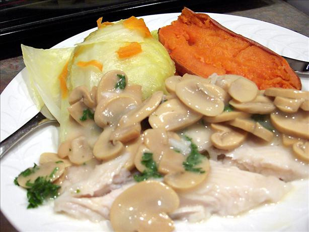 Diabetic Fish Recipes  Diabetic Low fat Fish Steaks With Mushroom Sauce Recipe