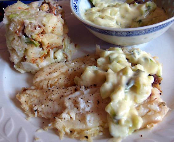 Diabetic Fish Recipes  Microwave Diabetic Fish With Cool Cucumber Sauce Recipe