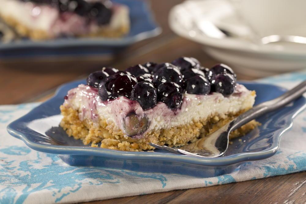 Diabetic Friendly Desserts Recipe  Blueberry Cheesecake Bars