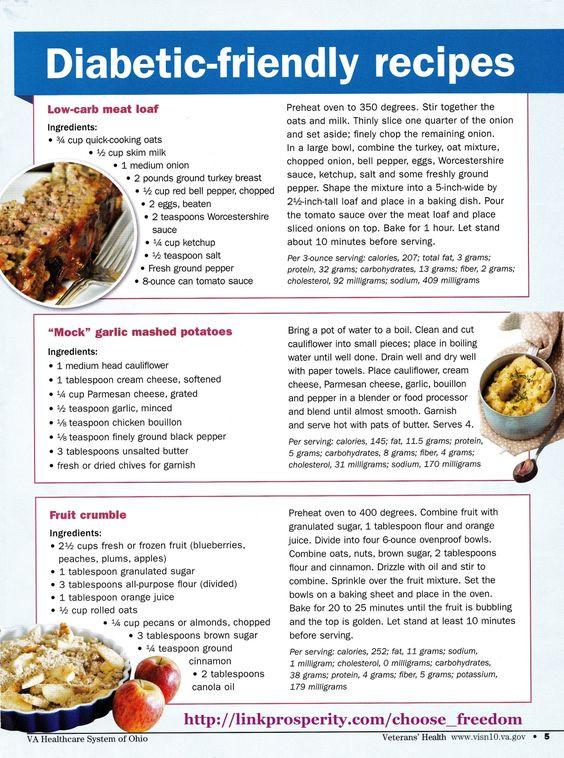 Diabetic Menu Recipes  Diabetic friendly Diabetes and Simple on Pinterest