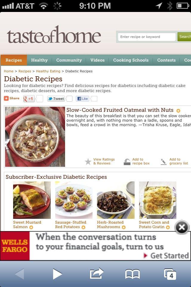 Diabetic Menu Recipes  41 best Diabetic Info Recipes images on Pinterest