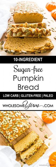 Diabetic Pumpkin Bread  Sugar free Pumpkin Bread Low Carb Paleo This ultra