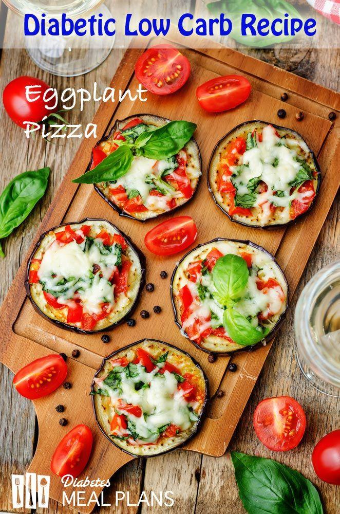Diabetic Recipes Blog  Diabetic Low Carb Recipe Eggplant Pizza