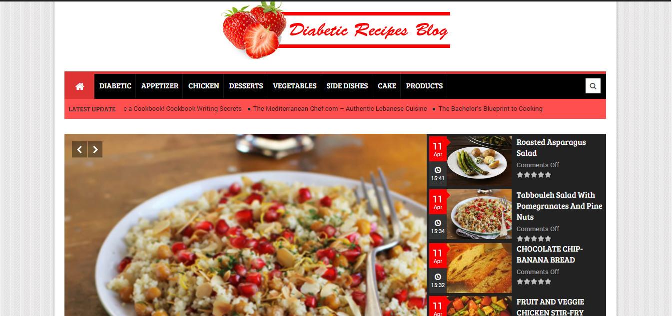 Diabetic Recipes Blog  Setup WordPress blog