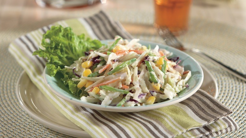 Diabetic Side Dish Recipes  Coleslaw with Snow Peas and Corn Diabetes Self Management