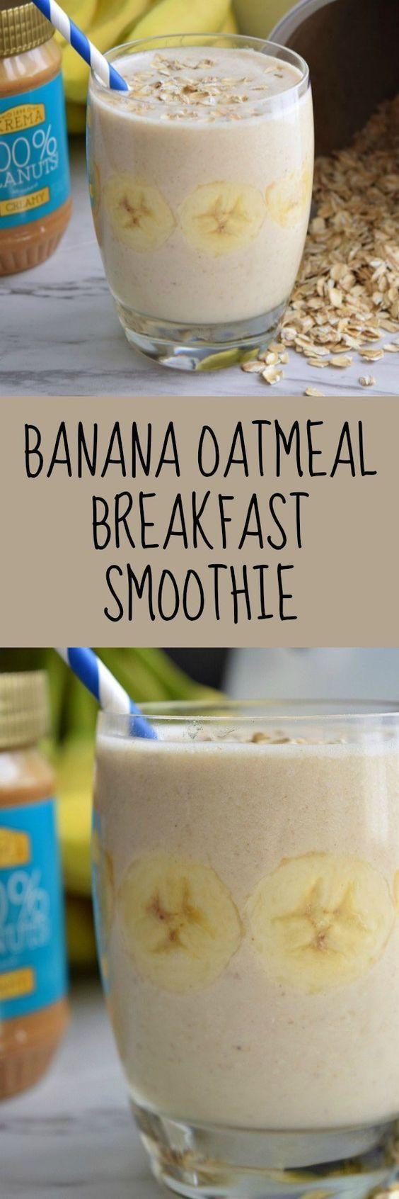 Diabetic Smoothies With Almond Milk  Banana Oatmeal Breakfast Smoothie