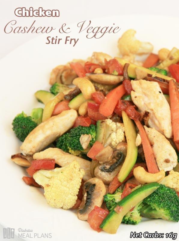 Diabetic Stir Fry Recipes  Chicken Cashew Veggie Stir Fry