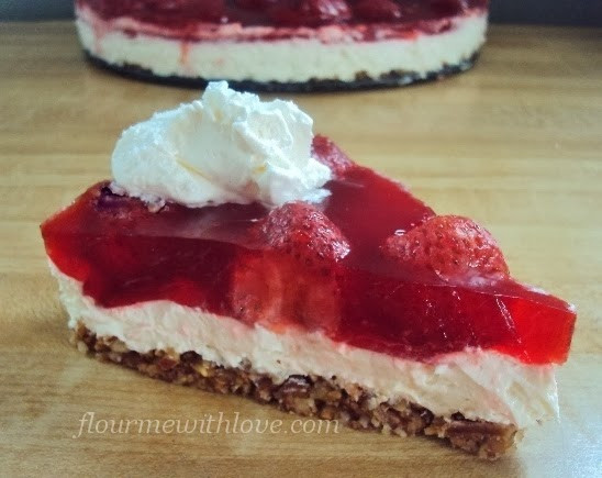 "Diabetic Strawberry Desserts  Lower Carb Sugar Free Strawberry ""No Pretzel"" Dessert"
