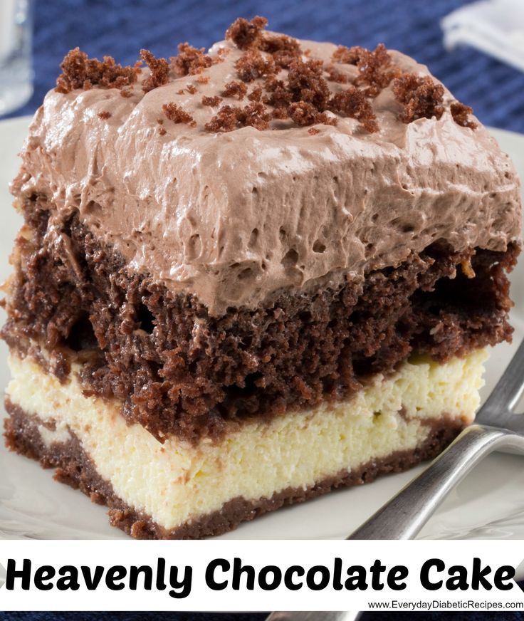 Diabetic Strawberry Desserts  Heavenly Chocolate Cake Recipe