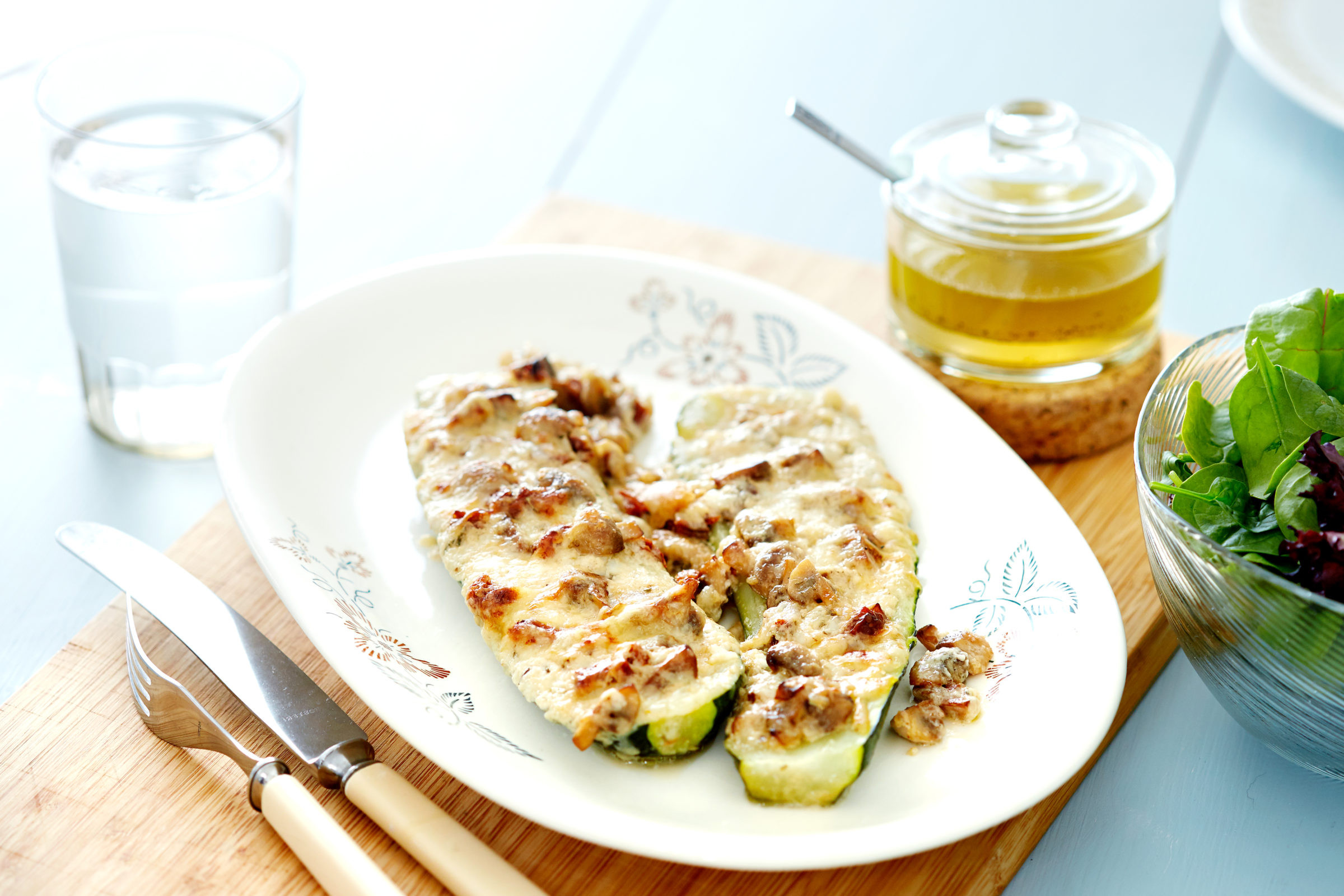Diet Doctor Low Carb Recipes  Low carb ve arian stuffed zucchini boats Diet Doctor