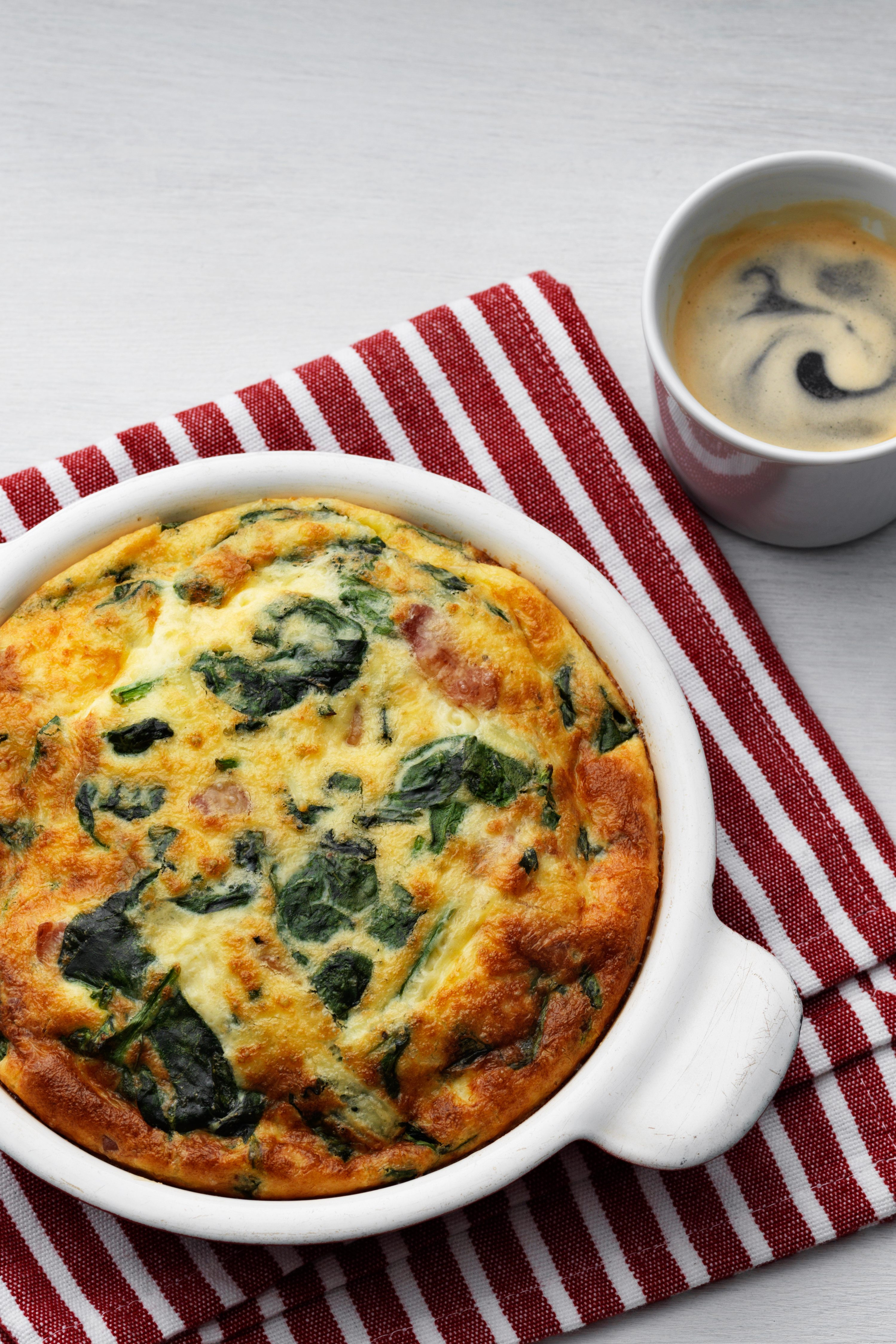 Diet Doctor Low Carb Recipes  Keto frittata with fresh spinach Diet Doctor