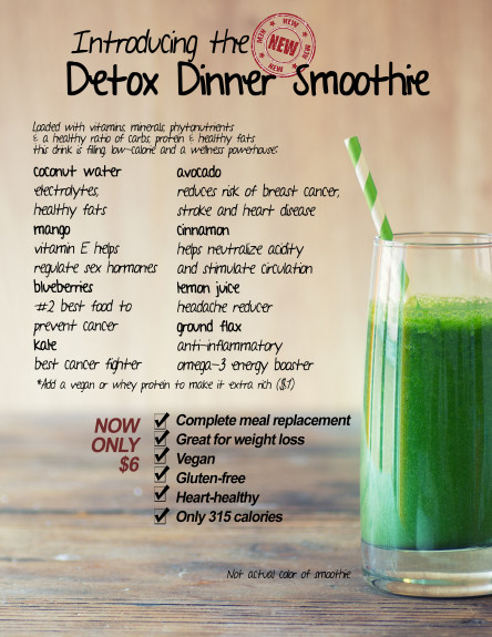 Dinner Smoothies For Weight Loss  Detox Dinner Smoothie