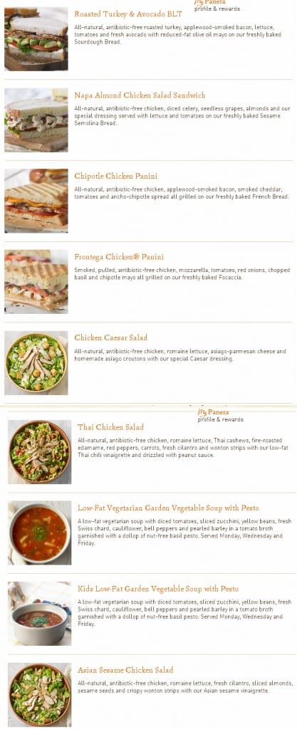 Does Panera Bread Have A Gluten Free Menu  Diet Menu No Grain Diet Menu