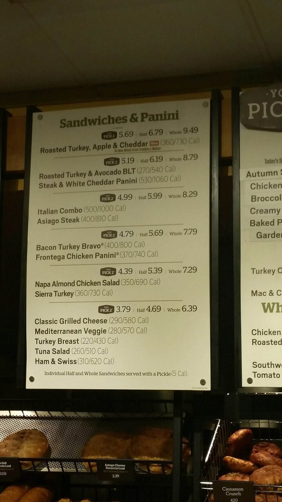 Does Panera Bread Have A Gluten Free Menu  Panera Bread Menu Prices