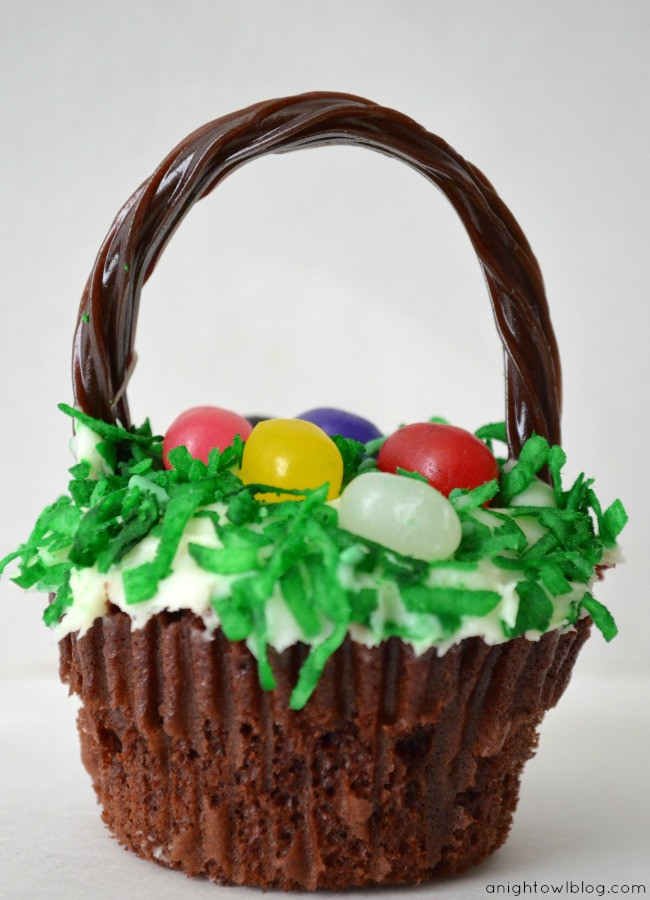 Easter Basket Cupcakes  Easter Basket Cupcakes