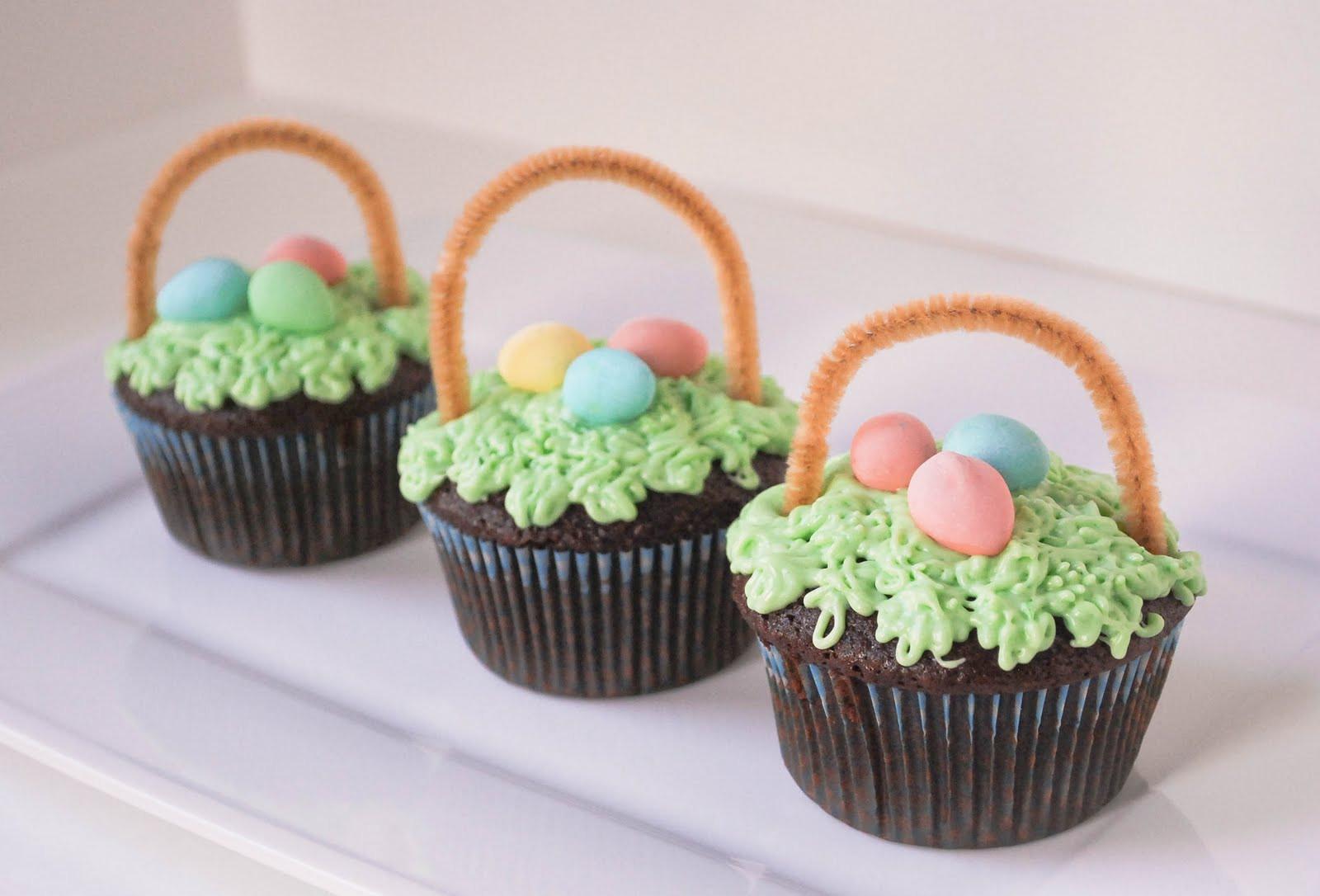 Easter Basket Cupcakes  Easter Basket Cupcakes The Fig Tree