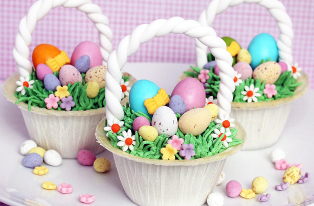 Easter Basket Cupcakes  Easter basket cupcakes recipe goodtoknow